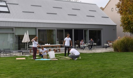 Lafarge team building event at Mokrin House